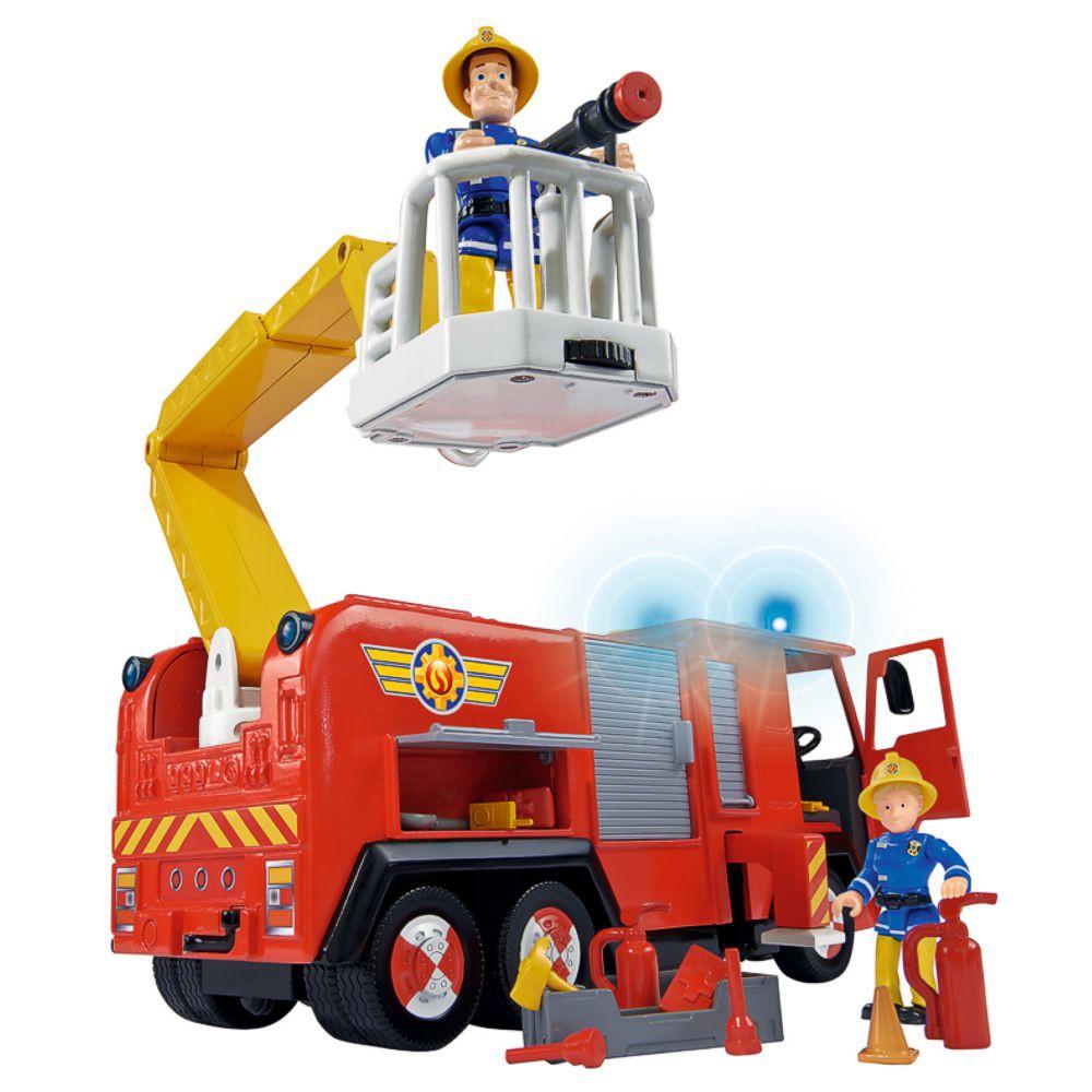 fireman sam jupiter vehicle fire engine with sound light toy figures ebay