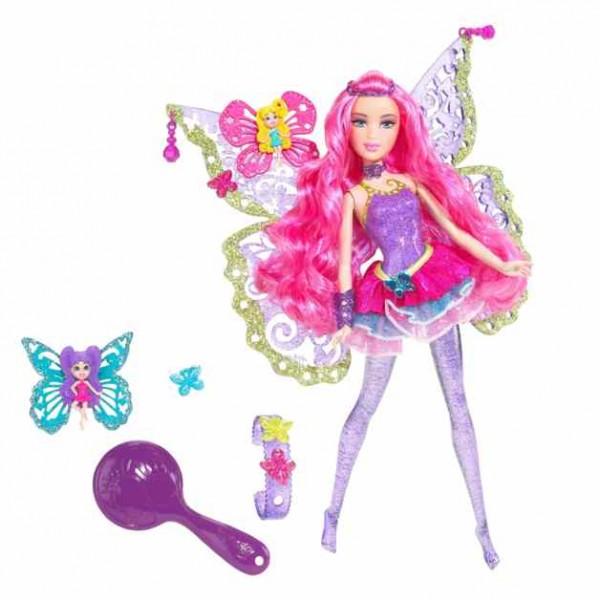 barbie puppe fashion fee lila