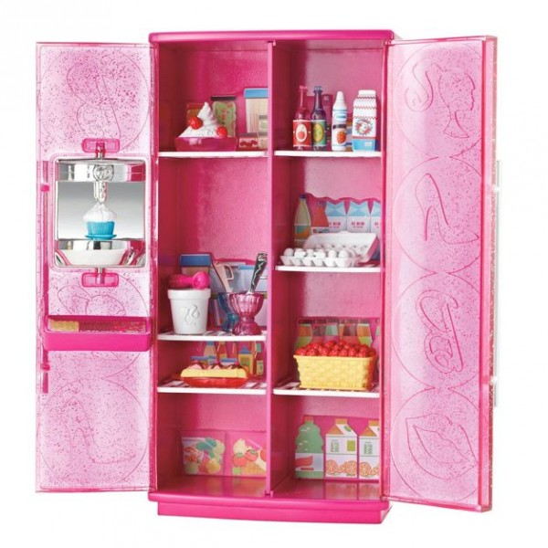 barbie m bel einrichtung k hlschrank eismaschine ebay. Black Bedroom Furniture Sets. Home Design Ideas