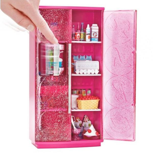 barbie m bel einrichtung k hlschrank eismaschine ebay. Black Bedroom Furniture Sets. Home Design Ideas
