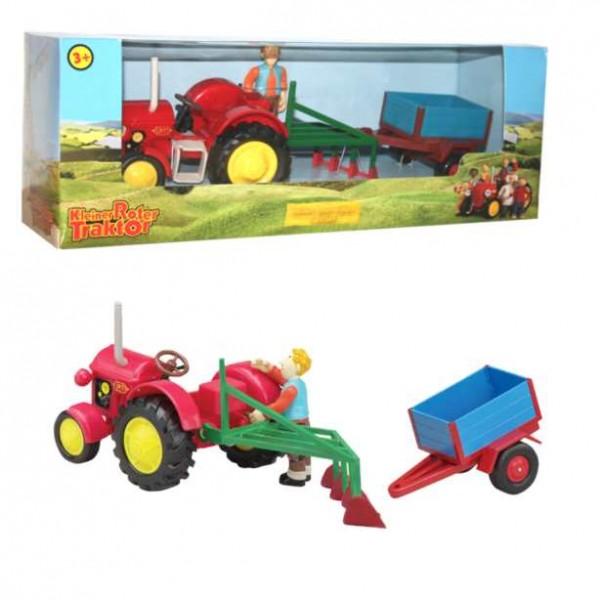 Kleiner roter traktor spielset jan kunststoff