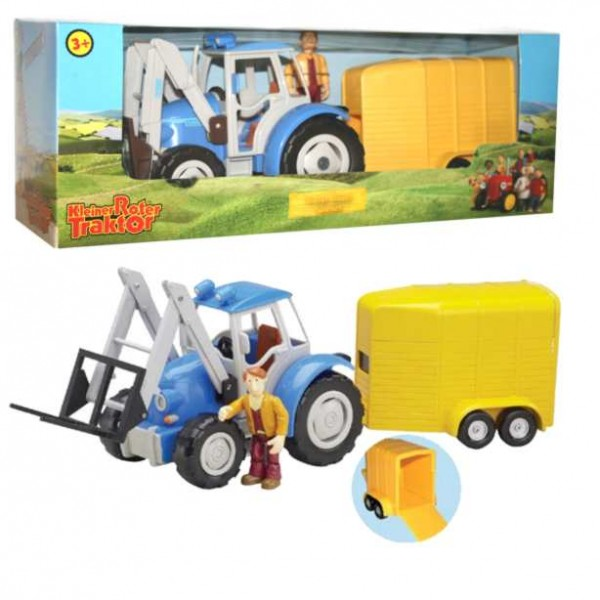 Kleiner roter traktor spielset blauer junker