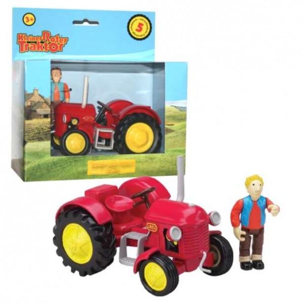 Kleiner roter traktor jan kunststoff ebay