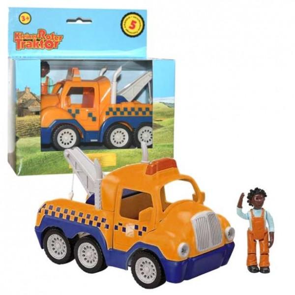 Kleiner roter traktor schleppi nicola kunststoff ebay