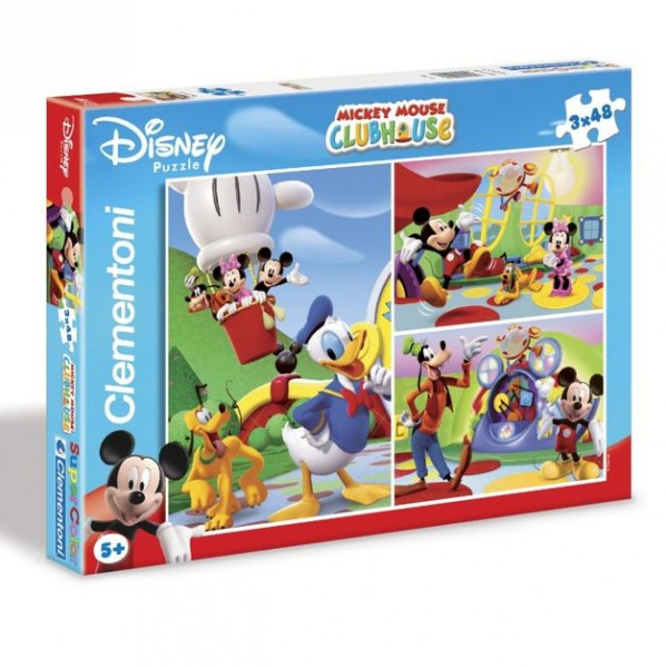 micky maus puzzle mickey mouse abenteuer 3x48 teile ebay. Black Bedroom Furniture Sets. Home Design Ideas