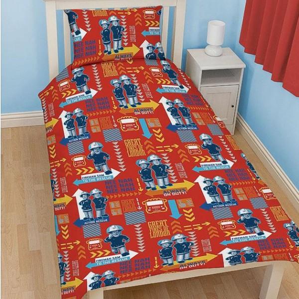 feuerwehrmann sam wende bettw sche feueralarm 135x200cm. Black Bedroom Furniture Sets. Home Design Ideas