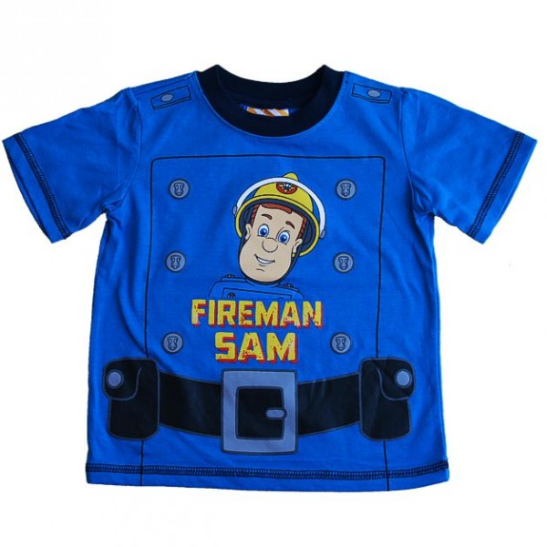 Feuerwehrmann-Sam-T-Shirt-Blau-Gr-98-116
