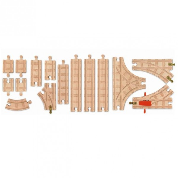thomas and friends track package 15 piece wooden train ebay. Black Bedroom Furniture Sets. Home Design Ideas