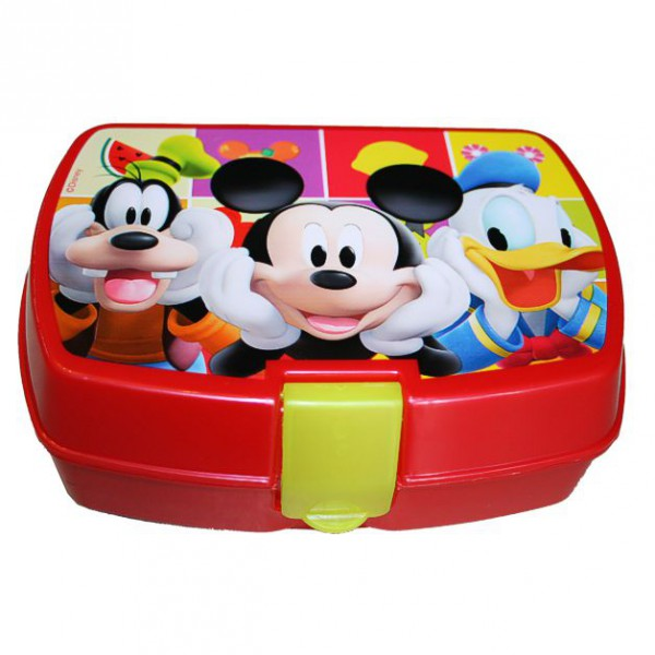 micky maus brotdose fr hst ck box mickey mouse 18x15x8cm. Black Bedroom Furniture Sets. Home Design Ideas