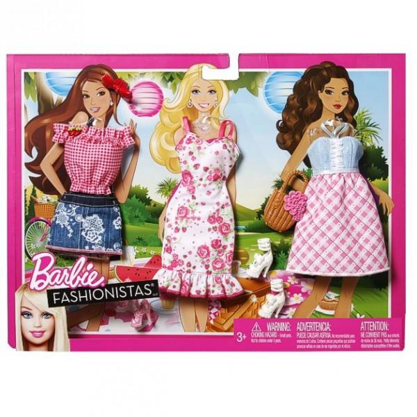 barbie trend garderoben set mode kleider kleidung picknick ebay. Black Bedroom Furniture Sets. Home Design Ideas