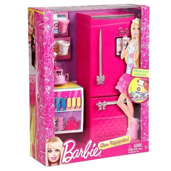 barbie m bel einrichtung k che k hlschrank gef llt ebay. Black Bedroom Furniture Sets. Home Design Ideas