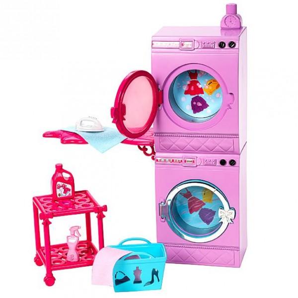 barbie m bel einrichtung bad waschmaschine und trockner ebay. Black Bedroom Furniture Sets. Home Design Ideas