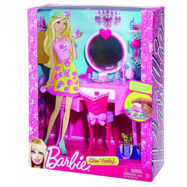 barbie m bel einrichtung schlafzimmer frisierkommode ebay. Black Bedroom Furniture Sets. Home Design Ideas