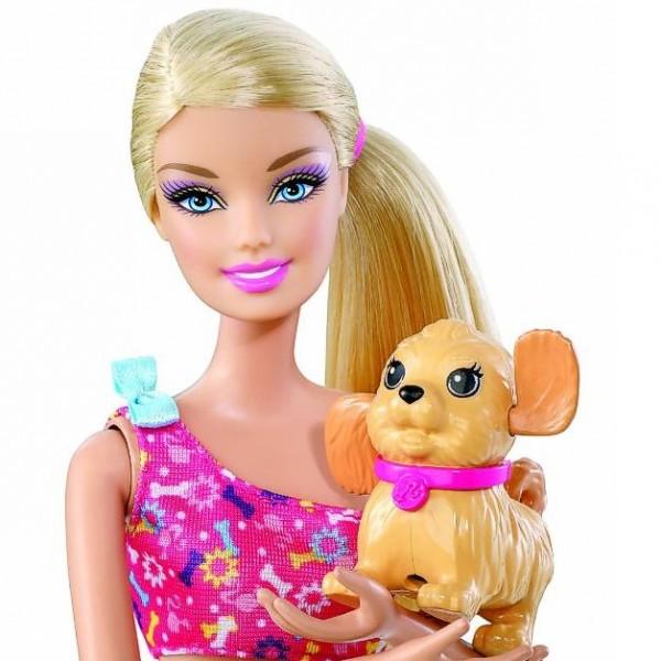 Scooter Barbie avec chien Mattel : King Jouet, poupes