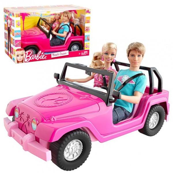 barbie familie strand auto truck mit puppen barbie ken. Black Bedroom Furniture Sets. Home Design Ideas