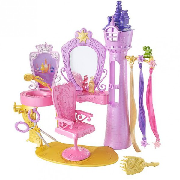 Toy Hair Salon : Disney princess barbie set hair salon play