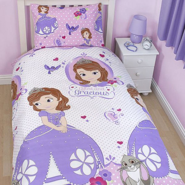 disney princess sofia die erste wende bettw sche 135x200cm ebay. Black Bedroom Furniture Sets. Home Design Ideas