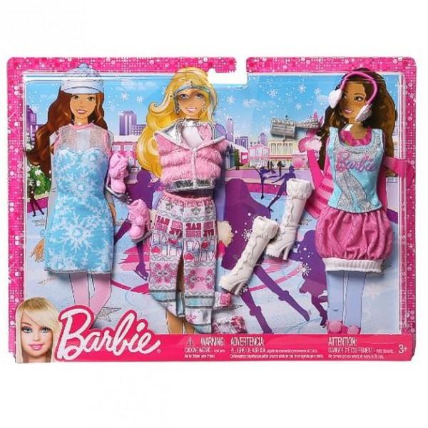 barbie 3 trend garderoben set mode kleider kleidung winter ebay. Black Bedroom Furniture Sets. Home Design Ideas