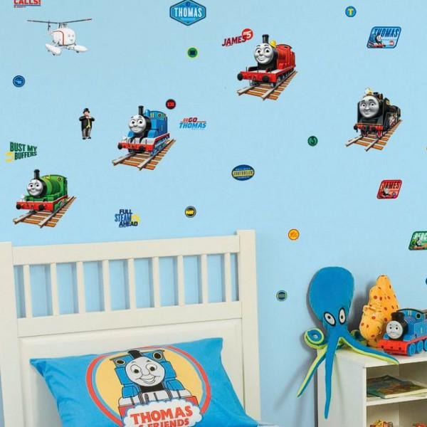 Kinderzimmer Tapeten Monster High : Thomas und seine Freunde – Deko Wanddekoration Set (32-teilig) Thomas