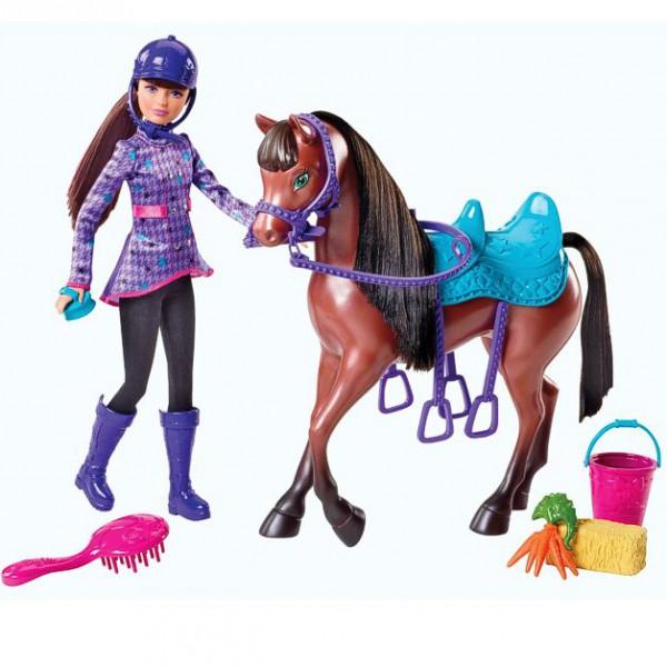 barbie schwestern im pferdegl ck set puppe skipper mit pferd ebay. Black Bedroom Furniture Sets. Home Design Ideas