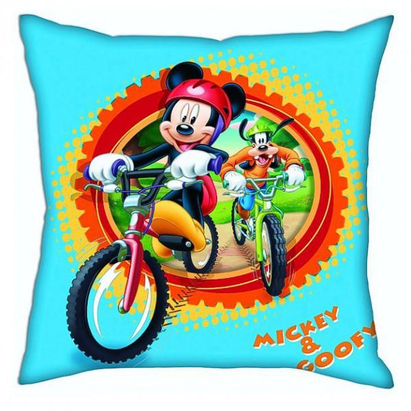 micky maus kissen mickey mouse on tour hellblau 40x40 cm ebay. Black Bedroom Furniture Sets. Home Design Ideas