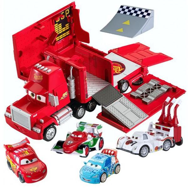 Dettagli su disney cars set da gioco camion + 4 automobiline