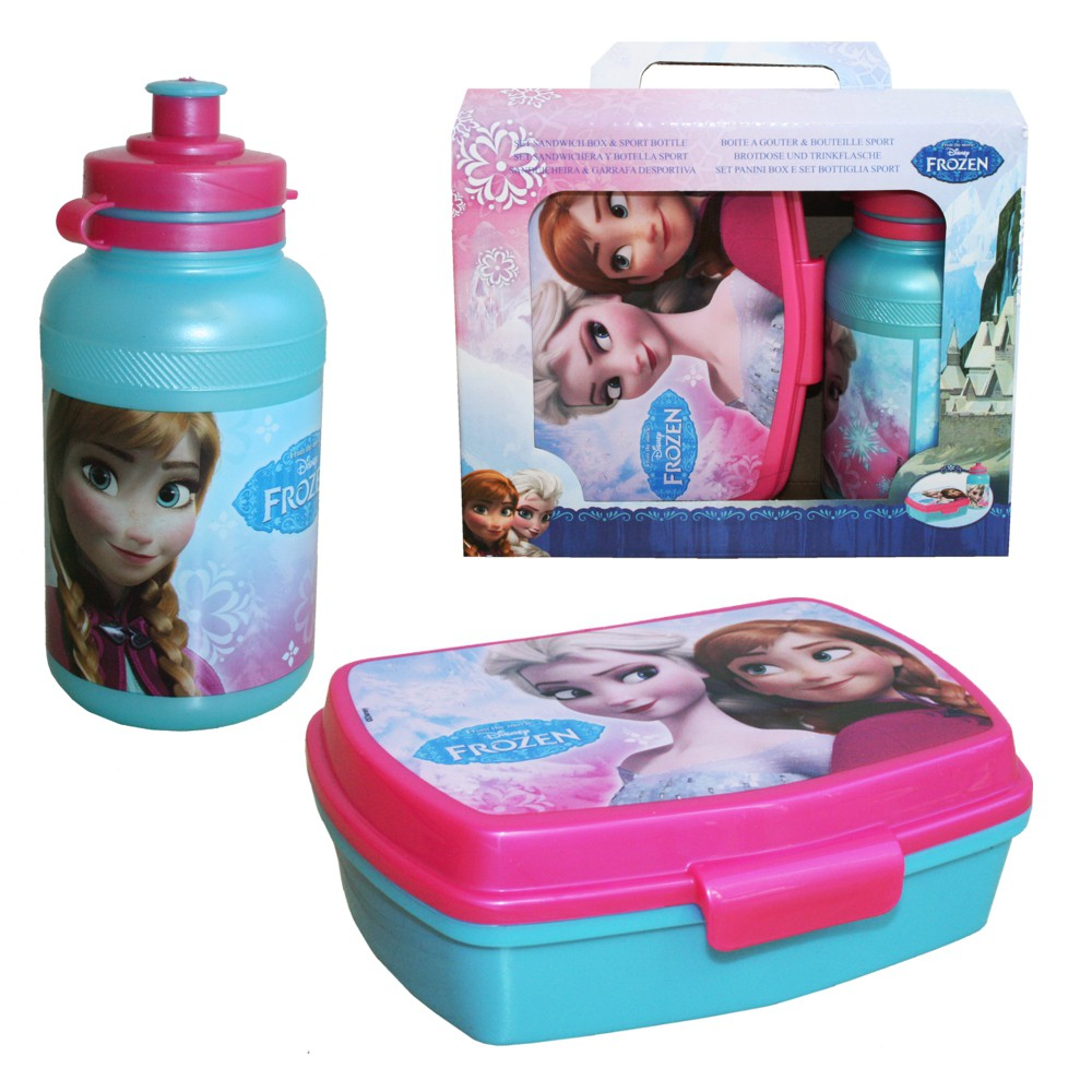disney eisk nigin frozen kinder pausen set brotdose trinkflasche disney frozen eisk nigin. Black Bedroom Furniture Sets. Home Design Ideas
