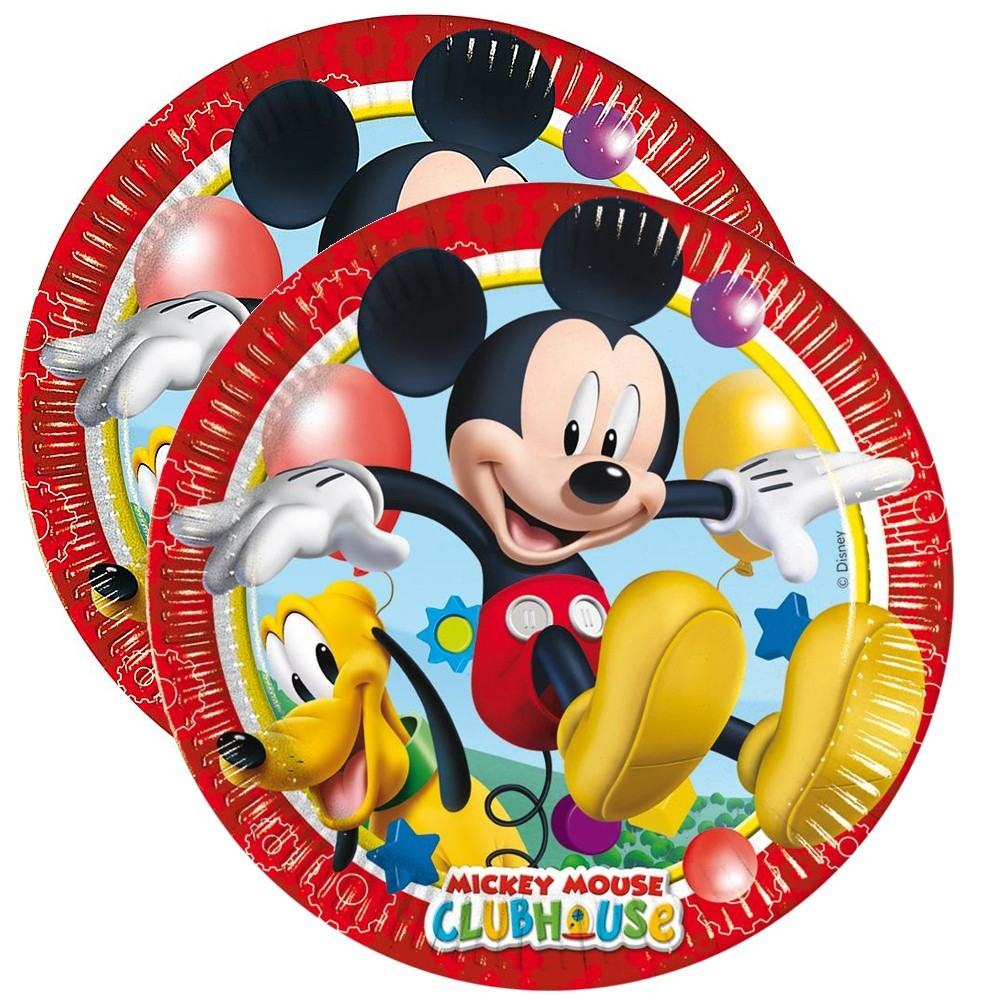 micky maus party geburtstag teller 20 cm mickey mouse 8 st ck micky maus freunde party. Black Bedroom Furniture Sets. Home Design Ideas