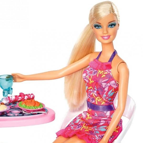 barbie m bel einrichtung wohnzimmer tisch esstisch mit. Black Bedroom Furniture Sets. Home Design Ideas