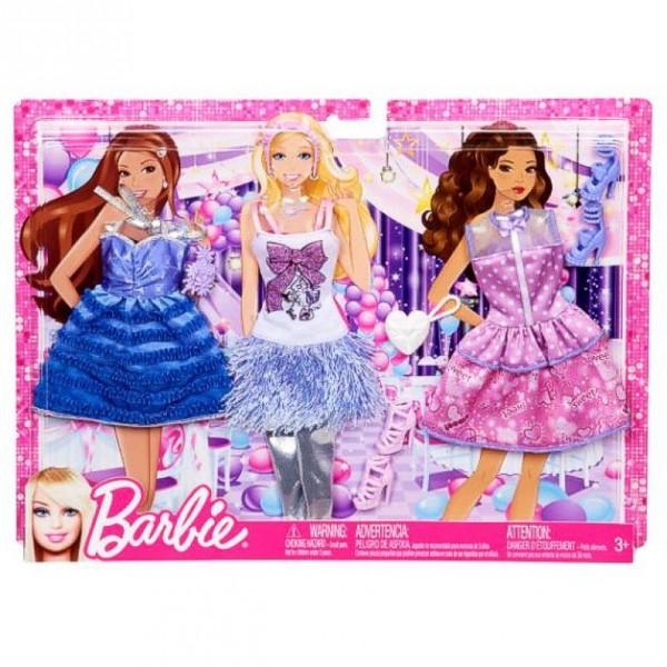 barbie 3 trend garderoben set mode kleider kleidung party ebay. Black Bedroom Furniture Sets. Home Design Ideas